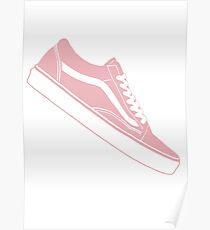 Vans Old Skool Low Top Pink / White Poster