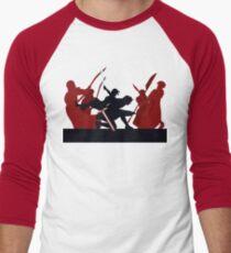 Kylo Ren and Rey vs. Snoke's Praetorian Guard Men's Baseball ¾ T-Shirt