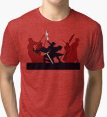 Kylo Ren and Rey vs. Snoke's Praetorian Guard Tri-blend T-Shirt