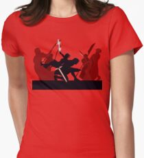Kylo Ren and Rey vs. Snoke's Praetorian Guard Women's Fitted T-Shirt