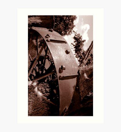 Spoken Wheel in Stump Art Print