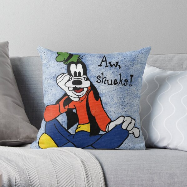 Goofy Painting Throw Pillow
