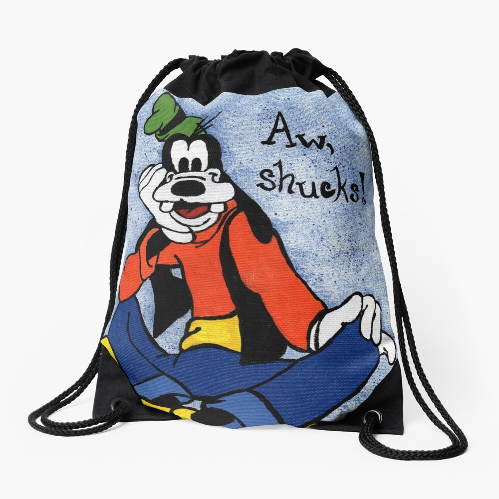 Goofy Painting Drawstring Bag