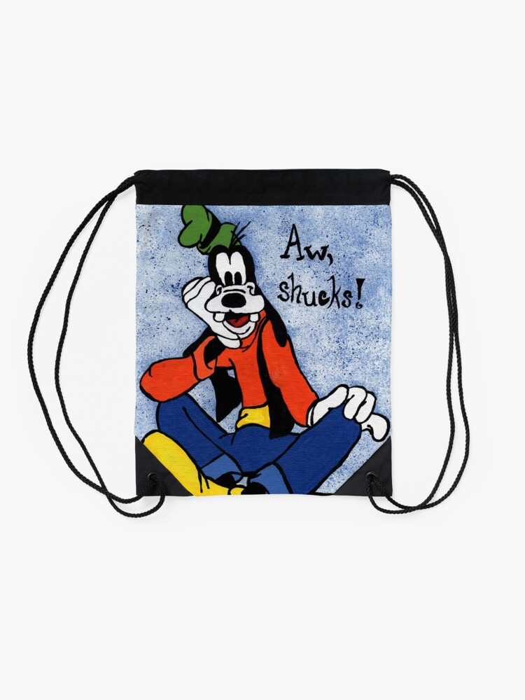 Alternate view of Goofy Painting Drawstring Bag