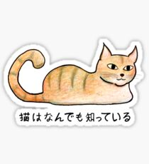 Cats Know Everything - Japanese Sticker