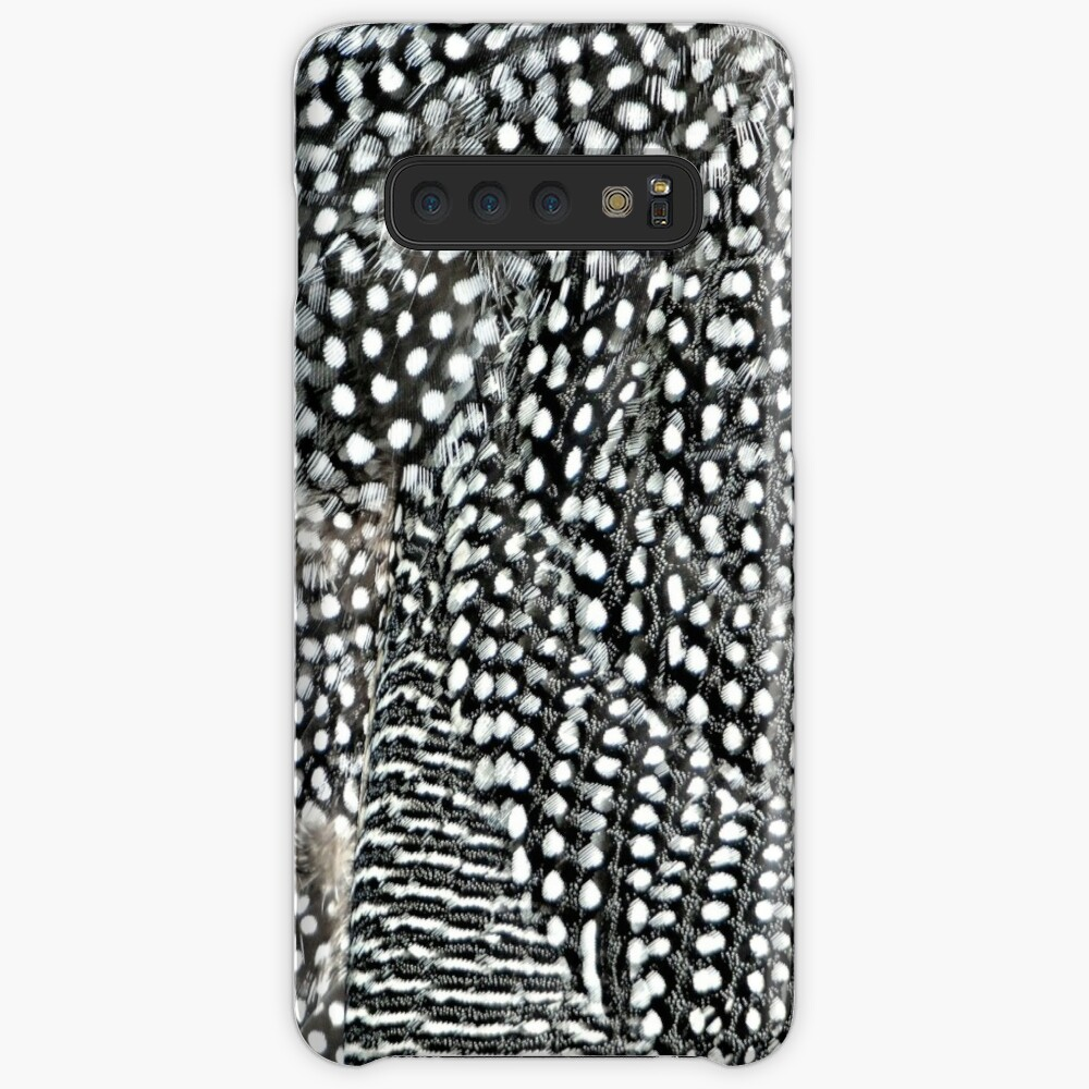 Guinea monochrome feather animal print Cases & Skins for Samsung Galaxy