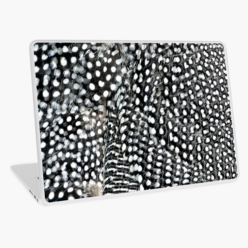 Guinea monochrome feather animal print Laptop Skin