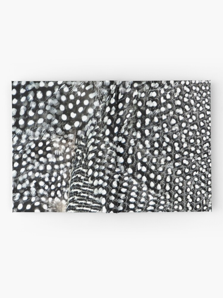 Alternate view of Guinea monochrome feather animal print Hardcover Journal