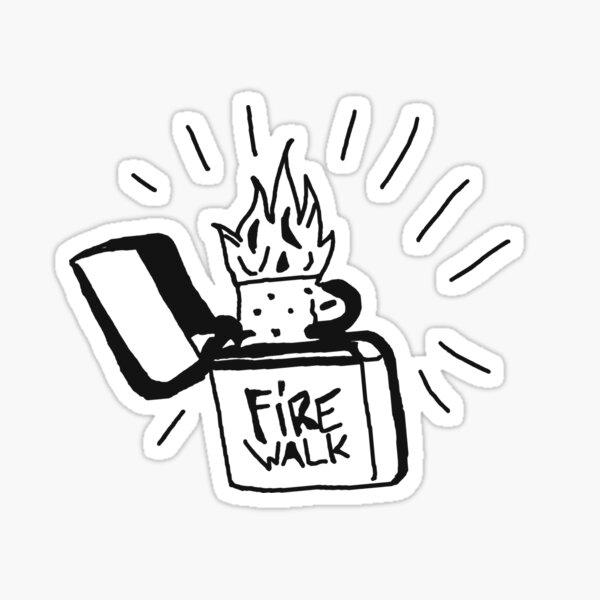 FIREWALK Lighter logo Sticker