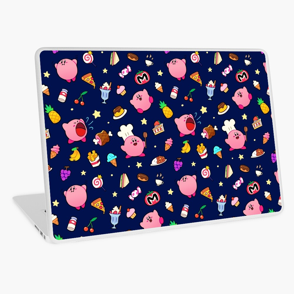 Kirby x Food Pattern Laptop Skin