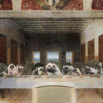 The Hedgehog Last Supper Princess Pricklepants Original Art by PPricklepants