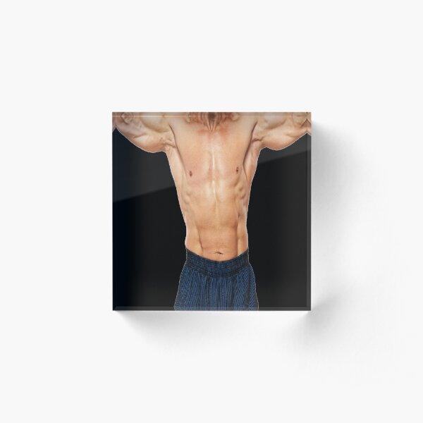 Muscular Man Acrylic Block