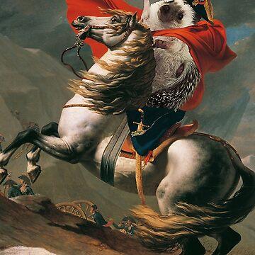 Hedgehog Napoleon: Heroic neoclassical hedgehog art by PPricklepants