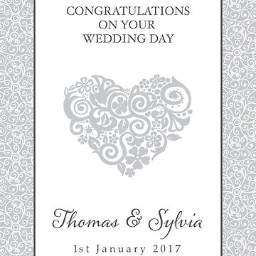 Wedding Day Gift (Personalised) by Bessibury