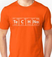 Techno (Te-C-H-No) Periodic Elements Spelling Unisex T-Shirt