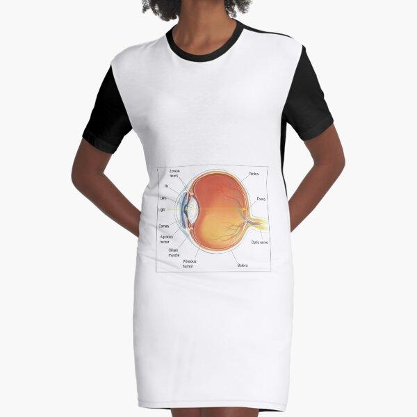 The eye diagram for kid's human anatomy diagrams Graphic T-Shirt Dress