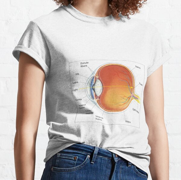 The eye diagram for kid's human anatomy diagrams Classic T-Shirt