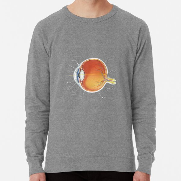 The eye diagram for kid's human anatomy diagrams Lightweight Sweatshirt