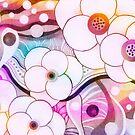 Hullabaloo -Stylized Flowers by dancinghorseart
