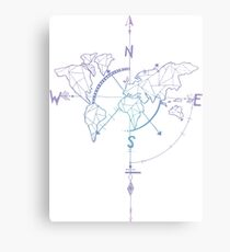 World Compass Canvas Print