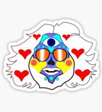 Jerry Garcia Grateful Dead Sugar Skull DeadHead Sticker Sticker