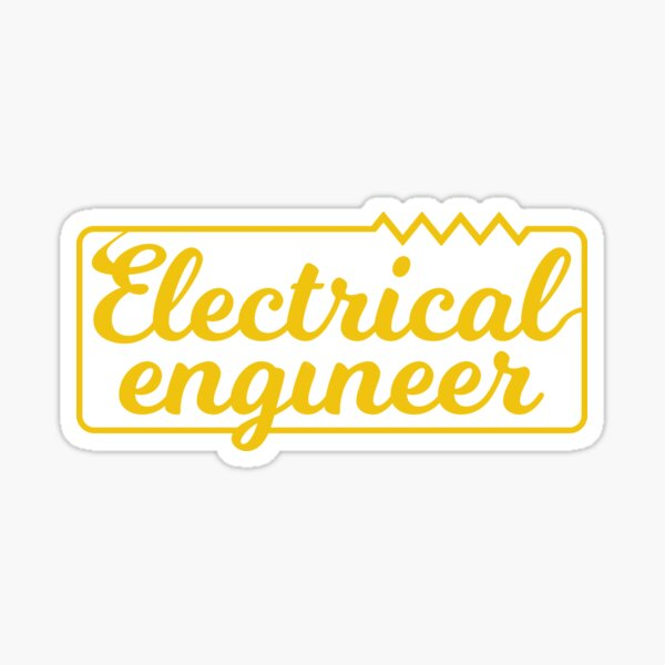 Electrical Engineer Circuit With Resistor  Sticker