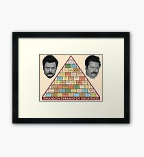 Pyramid of Greatness Framed Print