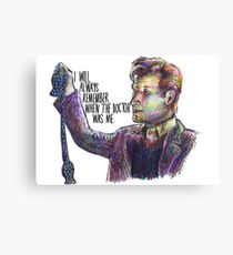 When the doctor was me Canvas Print