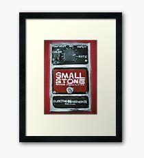 Radiohead Small Stone Guitar Pedal Fine Art Print Of Acrylic Painting Framed Print