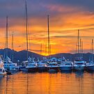 Sunset Harbour by vivsworld