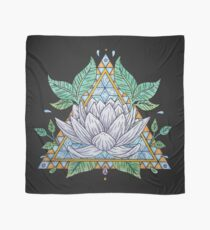 Stained Glass Lotus Illustration Scarf