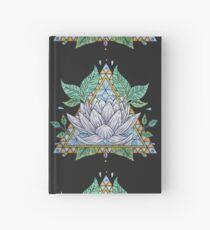 Cuaderno de tapa dura Vidriera, lotus, ilustración