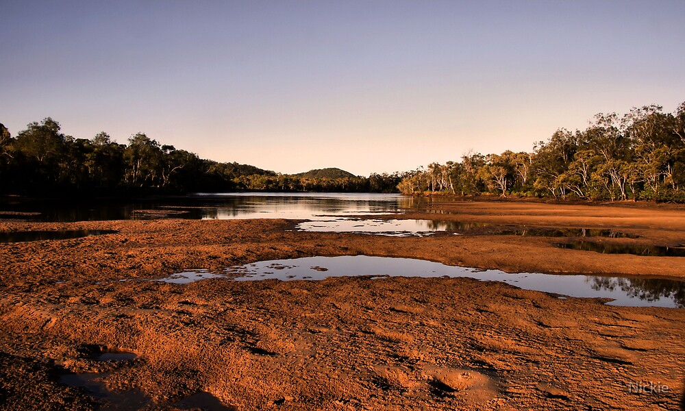 Lowtide Tallebudgera Creek  by Nickie