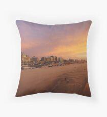 Scheveningen Beach Throw Pillow
