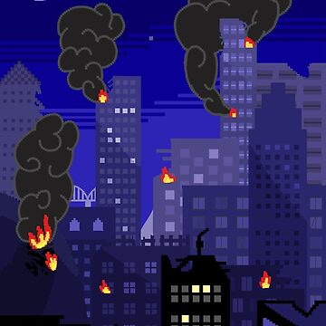 8-Bit Bombed City on Fire by Kitmagic