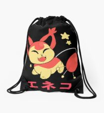Japanese shiny skitty pokemon  Drawstring Bag