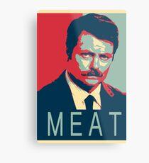 RON SWANSON | MEAT Metal Print