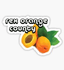 rex orange county apricot  Sticker