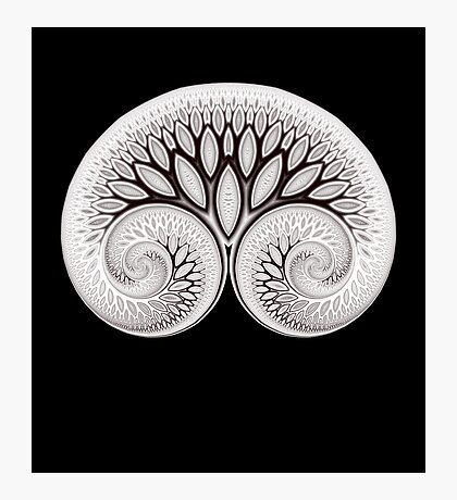 Tree of Life White on Black Photographic Print