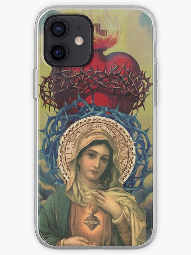 Vierge Marie avec le Sacré Cœur de Jésus | Coque iPhone
