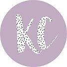 KC polka dot sticker by Emma Vaughters