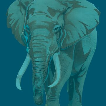 Blue Elephants by tduffy