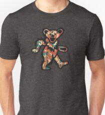 Grateful Dead Dancing Bear Red Fire Unisex T-Shirt