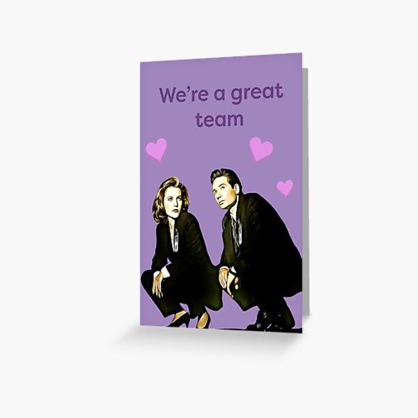 X files valentine- great team Greeting Card