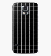 schwarzes Gitter minimalistisches Design Hülle & Klebefolie für Samsung Galaxy