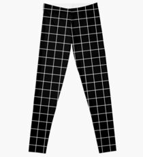 black grid minimalist design Leggings