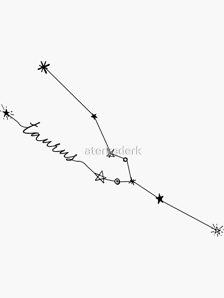 Taurus Zodiac Constellation Drawing Sticker by aterkaderk