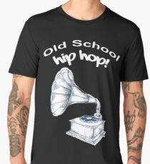 Old School Hip Hop Rap Record Player Men's Premium T-Shirt