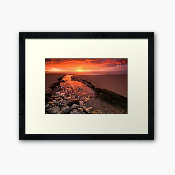 There's Gold in That There River Framed Art Print