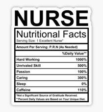 Nurses - Nutritional Facts Sticker